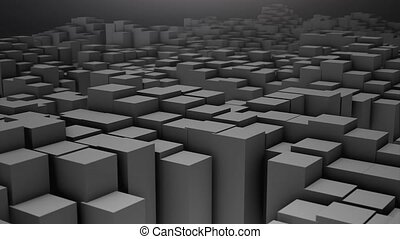 Digital background of the many squares