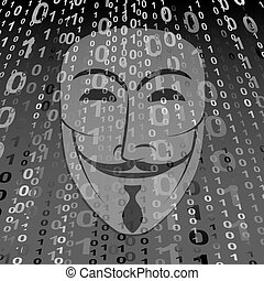 Anonymous - digital background with Anonymous mask