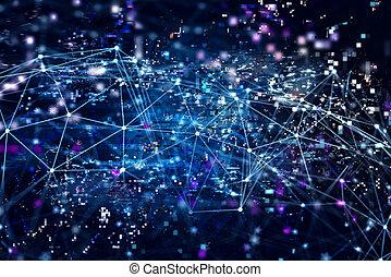 digital, begrepp, nätverk, bakgrund, internet