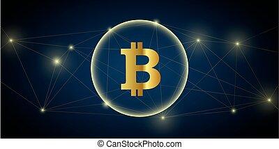 digital big bitcoin network crypto