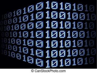 Digital Binary Code Background