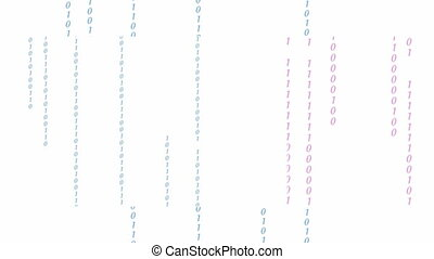 Digital binary data, streaming code background. Matrix background. Crypto space.