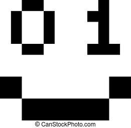 Digital binary smile