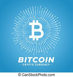 digital bitcoin currency concept background