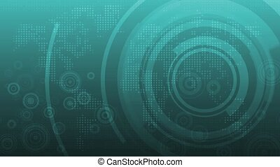Multi-layered computer data background with random dots and binary streams. The first and last frame match for looping possibilities. HD 1080p quality 29.97fps.