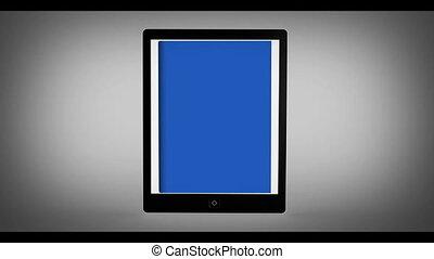 Digital bookshelf on tablet - Digital book with chroma keys...