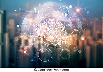 Digital brain concept