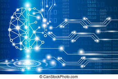 digital brain genius - technology concept,digital brain...