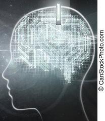 Digital brain implant