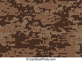 Digital brown military camouflage textured background