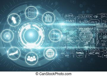 Digital business interface wallpaper