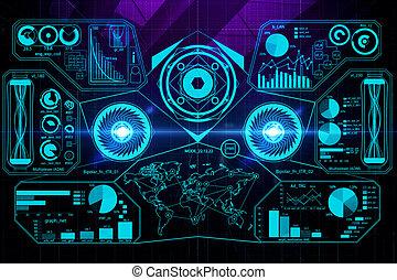 Digital business screen wallpaper