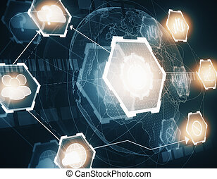 Digital business wallpaper