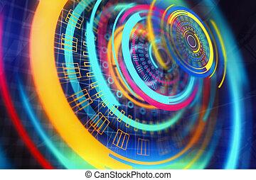 Digital button background