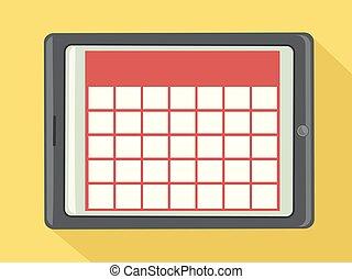 Digital Calendar Tablet Illustration