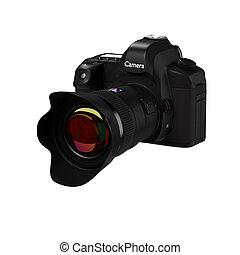 Digital Camera. - 3d rendering of digital camera models in ...