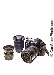 Digital Camera Gear With Copy Space