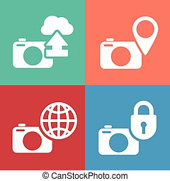 digital camera icon set
