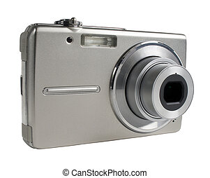 Digital camera isolated on white