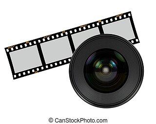 Digital Camera Lens - A digital camera lens isolated against...