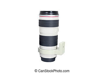 Digital camera lens isolated on white background, Old lens isolated.