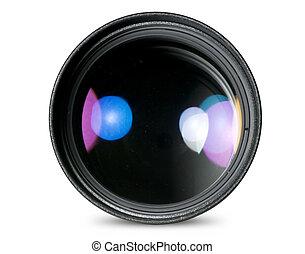 Digital camera lens isolated on white