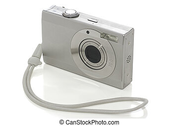Digital camera on white with clipping path