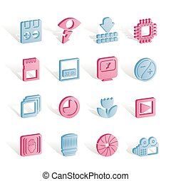Digital Camera Performance - Vector Icon Set