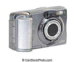 Small 2 mega-pixel digital camera. Includes clipping path.