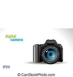 digital camera - proffesional slr digital camera - vector/...