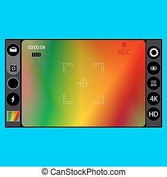Digital Camera Viewfinder. Focusing Screen