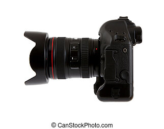 Digital camera with lens