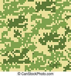 Digital camouflage seamless patterns
