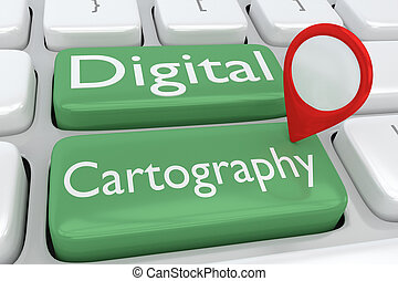 Digital Cartography concept