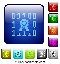 Digital certificate color square buttons
