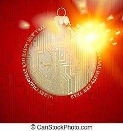 Digital christmas design.