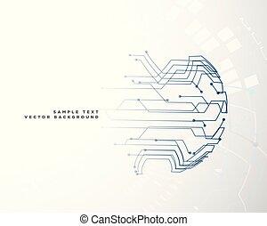 digital circuit wire mesh background