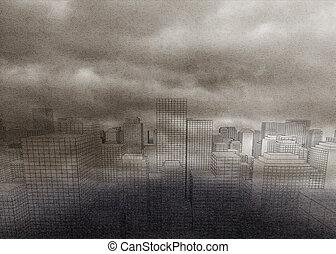 Digital city in the fog
