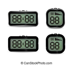 Digital clock and stopwatch