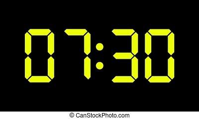 Digital clock count from zero