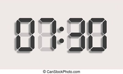 Digital clock count from zero