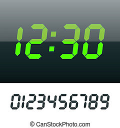 Digital clock - Easy editable vector illustration of a...