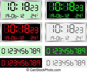 Digital Clock - Vector illustration of a digital clock...