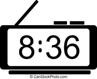 Digital clock icon. Vector - Digital clock icon. Flat...