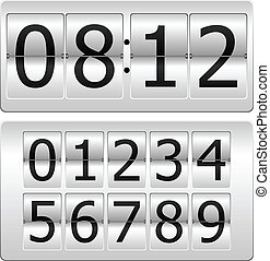 Digital Clock - Set of numbers for use as a clock or counter