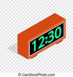 Digital clock isometric icon