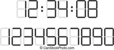 Digital clock  number set