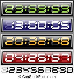 digital clock vector illustration