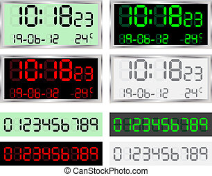Digital Clock - Vector illustration of a digital clock...