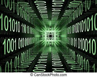 digital code - matrix binary digital code  design tonel